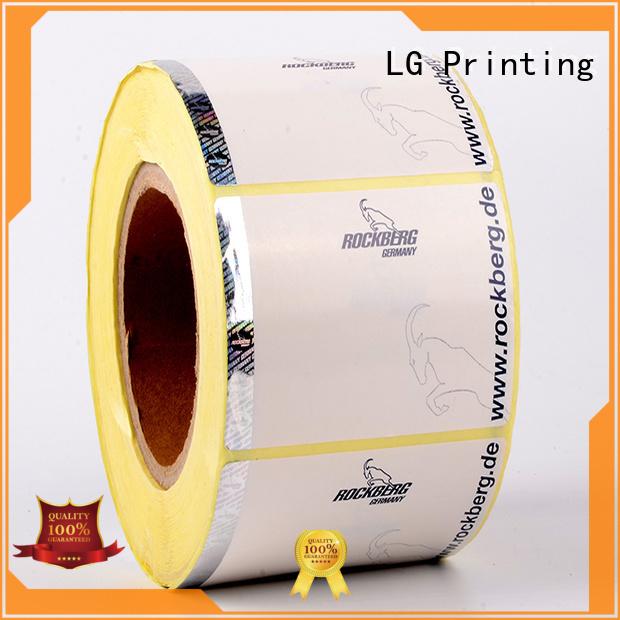 LG Printing PP security hologram labels supplier for bag