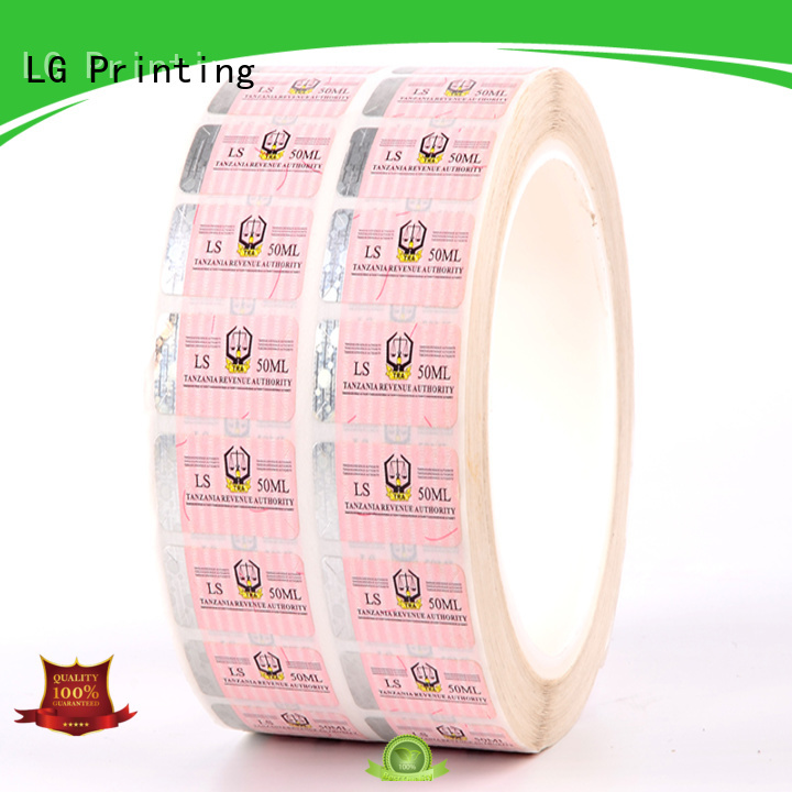 counterfeiting custom holographic labels 122 series for box