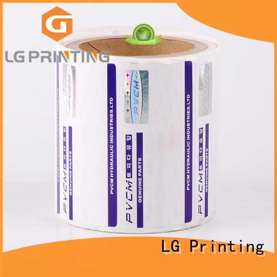 LG Printing serial holographic seal manufacturer for products