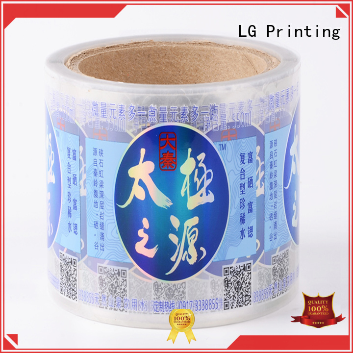 transparent shipping label printer silver series for bottle