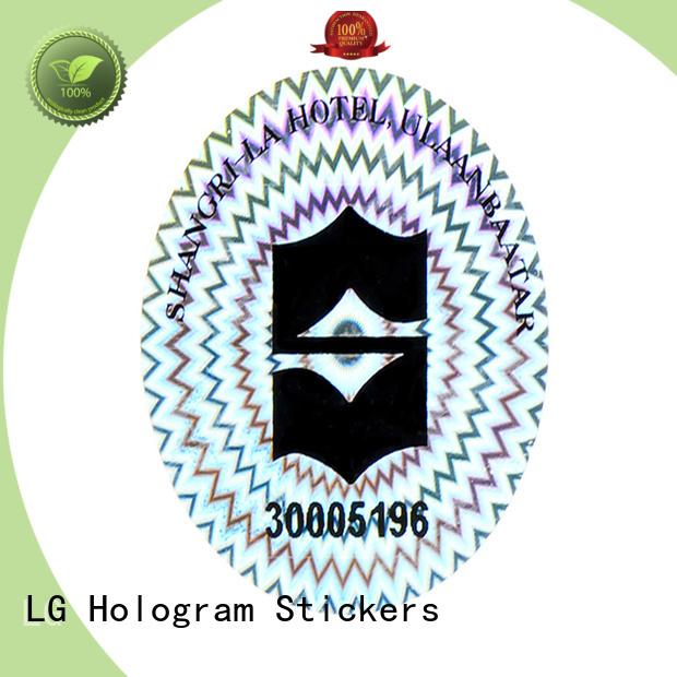 round hologram stickers uk code label for door