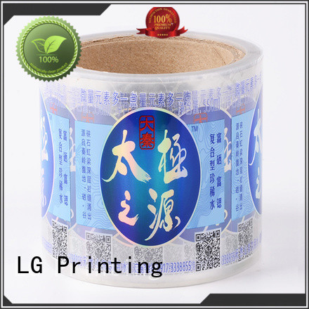 LG Printing red custom waterproof labels supplier for wine bottle