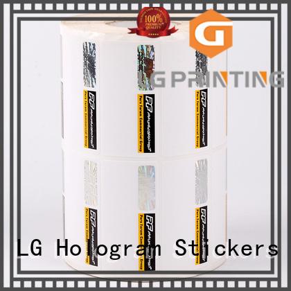 security hologram labels anti-fake security hologram LG Printing Brand