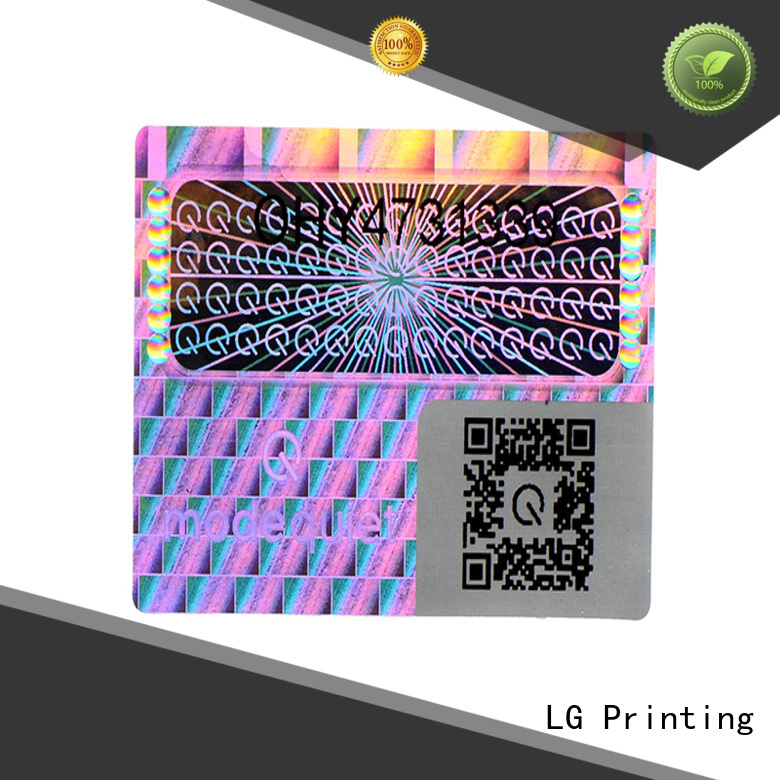 holographic sticker sheet numbering for door LG Printing