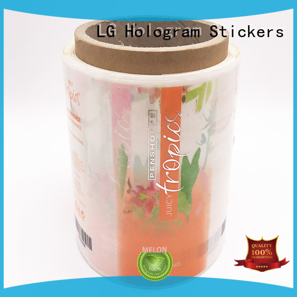 LG Printing printed sticker factory supplier for wine bottle