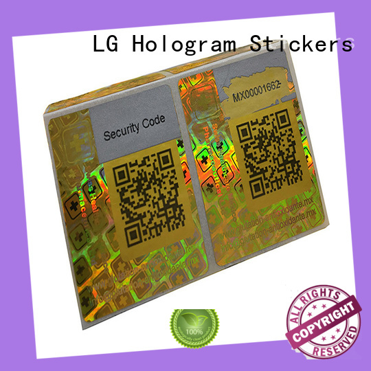 LG Printing void holo stickers supplier for refrigerator