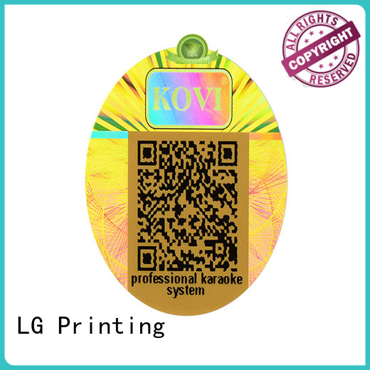 scratched china sticker printing numbering series for box