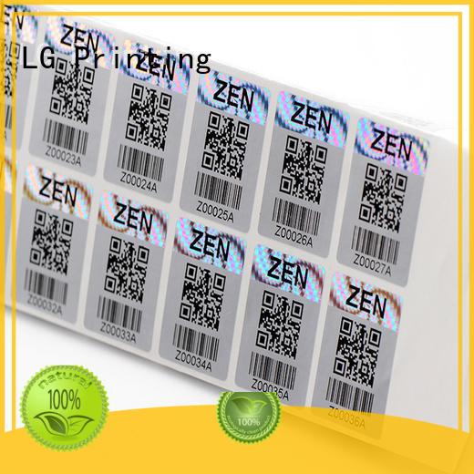 Quality LG Printing Brand transparent hologram sticker