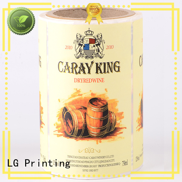 LG Printing pvc custom waterproof labels factory for jars