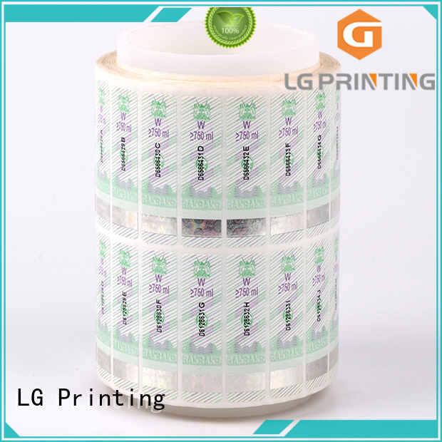 LG Printing fake sticker hologram series for bag