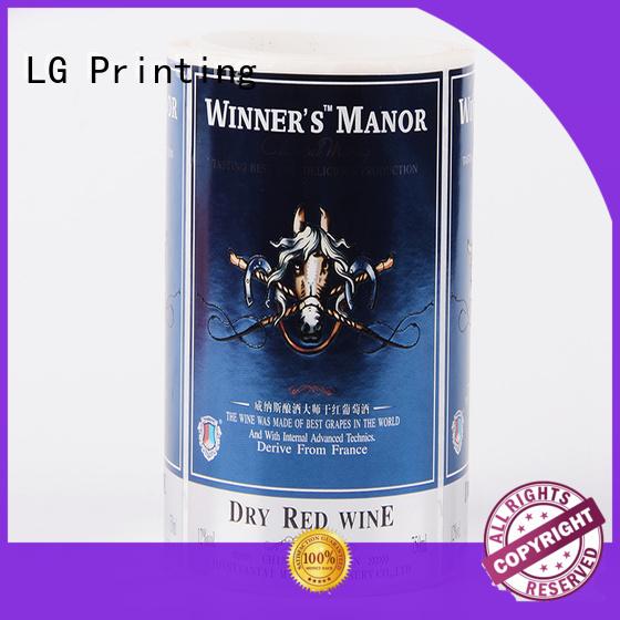 red vinyl stickers for water bottle pvc for bottle LG Printing