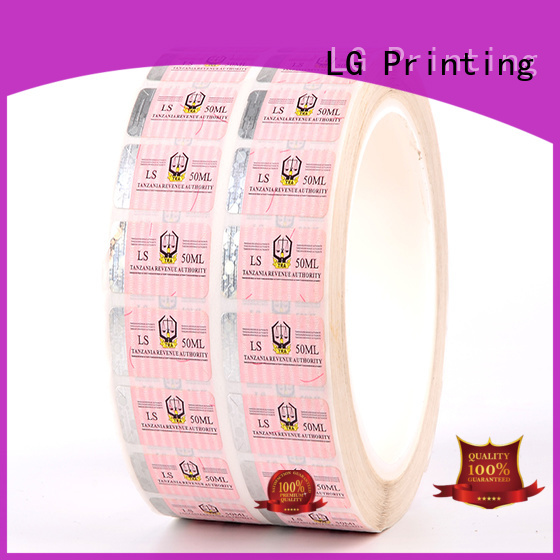stickers anti counterfeit label label for box LG Printing