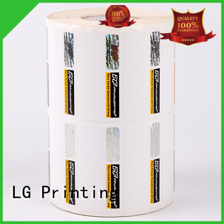 LG Printing silver anti counterfeit label series for products