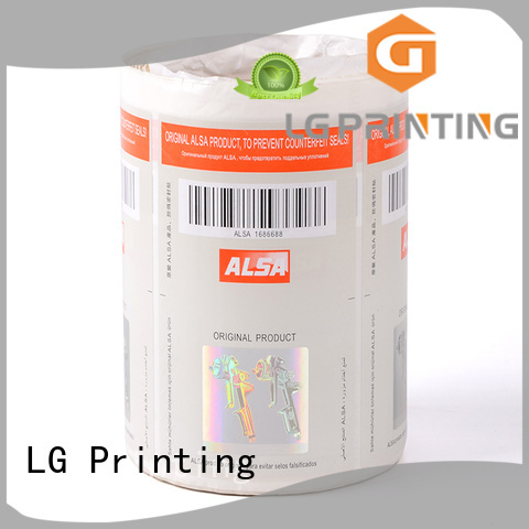 LG Printing silver secure print series for goods
