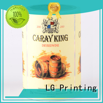 LG Printing gold carton packaging series for bottle