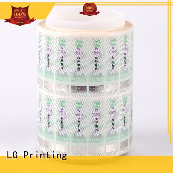 LG Printing randomly custom hologram factory for bag
