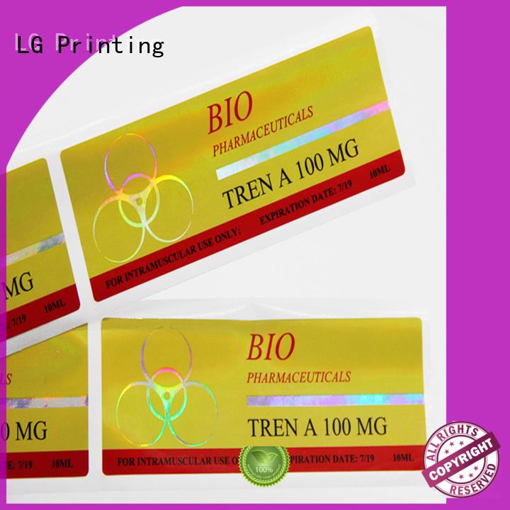 LG Printing custom holographic labels