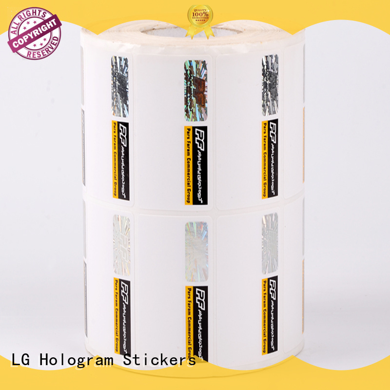 printing clear security stickers manufacturer for products