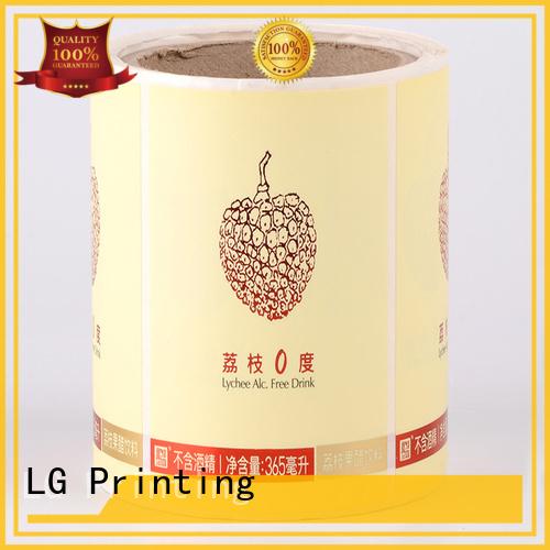 bottle transparent printed labels OEM adhesive labels LG Printing