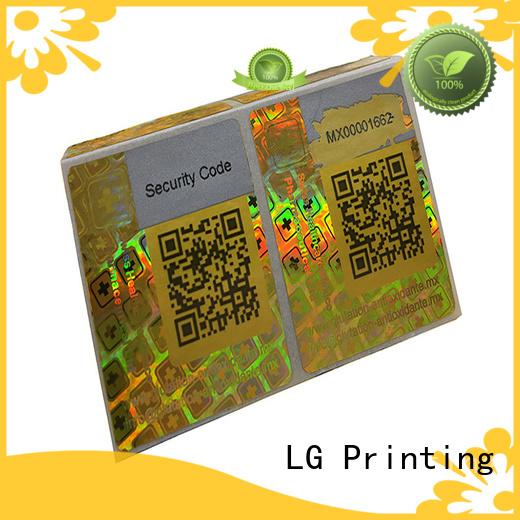 LG Printing barcode big 3d hologram manufacturer for table