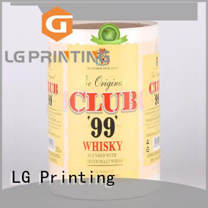 bopp custom waterproof labels manufacturer for wine bottle LG Printing