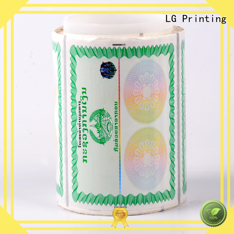 121 holographic security stickers manufacturer for products LG Printing