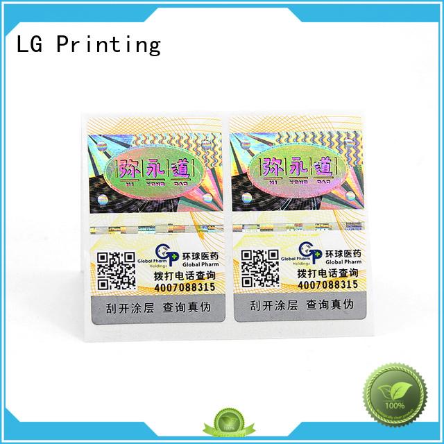 LG Printing Custom 3d hologram labels manufacturers for goods