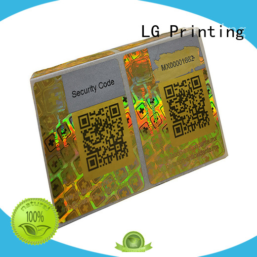 holo stickers gold for door LG Printing