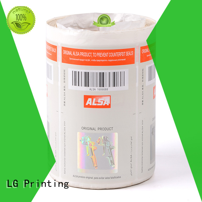 stickers asset security stickers number for goods LG Printing