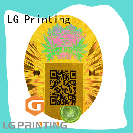 LG Printing numbering make your own hologram stickers supplier for table