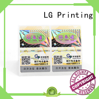 LG Printing tamper resistant labels Suppliers for box
