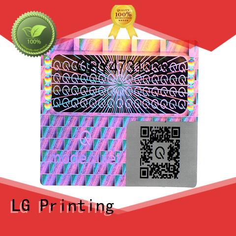 gold hologram sticker manufacturer for table LG Printing