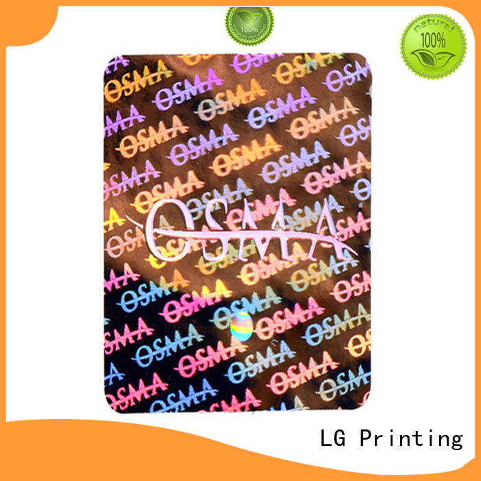 LG Printing void supreme holographic sticker series for box