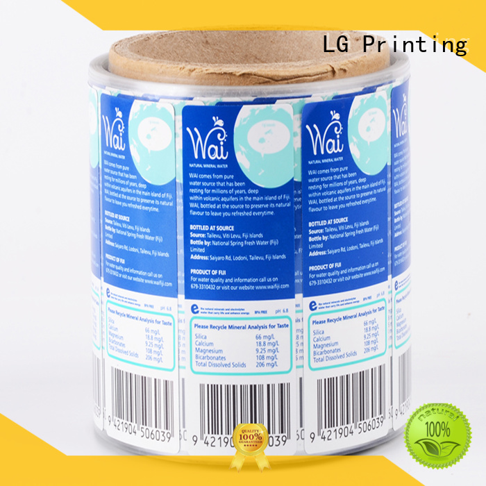 LG Printing Brand roll wine paper quality adhesive labels