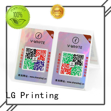 LG Printing New tamper stickers Suppliers for products