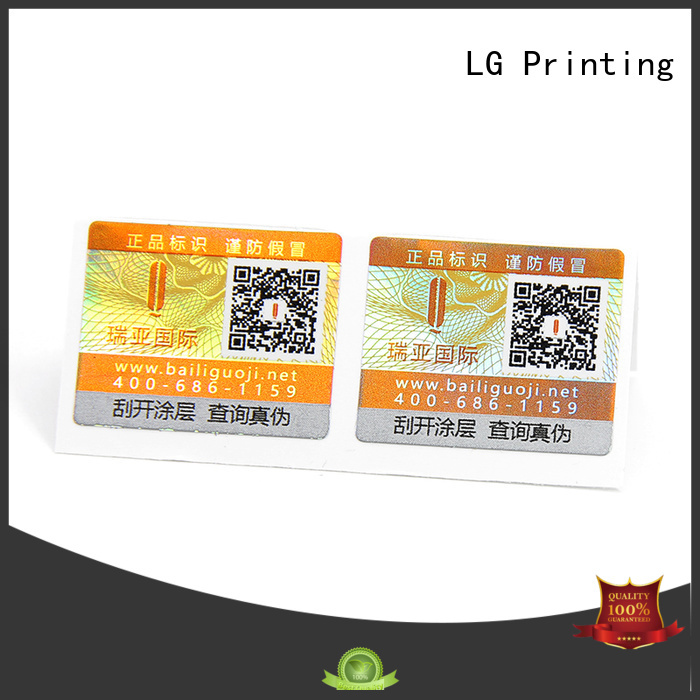 LG Printing waterproof labels for bottles printing Supply for box