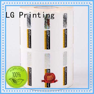 anti-fake stickers printing sticker LG Printing Brand security hologram