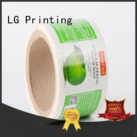 Hot self adhesive label jar LG Printing Brand
