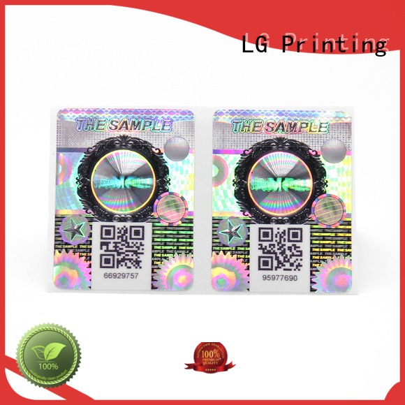 New custom holographic labels company for products