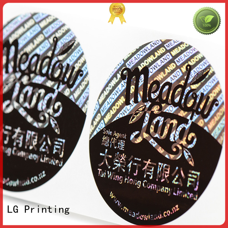 custom shape transparent LG Printing Brand 3d hologram sticker factory