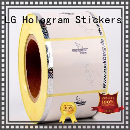 printing sticker anti-fake foil security hologram LG Printing