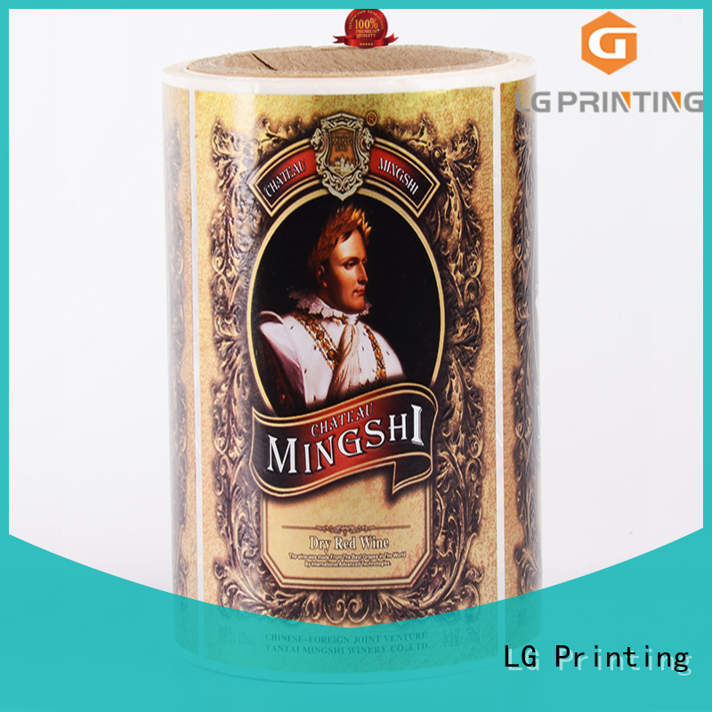 adhesive clear labels foil for cans LG Printing