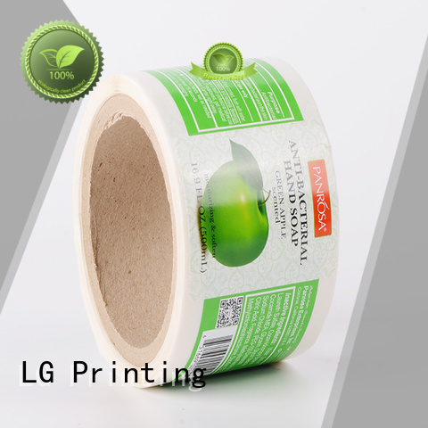 LG Printing Brand red adhesive labels paper factory