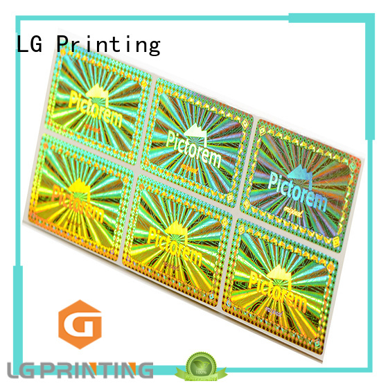 LG Printing round authentic hologram stickers logo for box